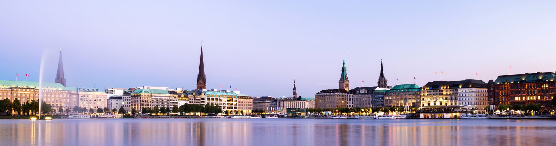 Hamburg Alster view Panorama